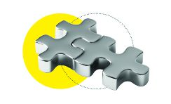Yellow jigsaw about page