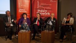 Mariana Mazzucato with other speakers at Policy Network conference on 6 September 2012