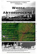 Whose Anthropocene?