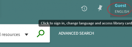 sign-in to Library Search