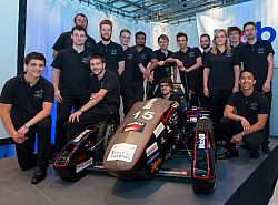 Formula Student team with their car