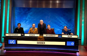 University Challenge team with Paxman