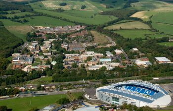 Ariel view of Amex stadium and Sussex campus