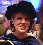 A photo of Lynne Murphy wearing an academic gown