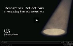 Researcher Reflections video screen grab