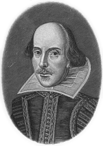 A sketch of William Shakespeare