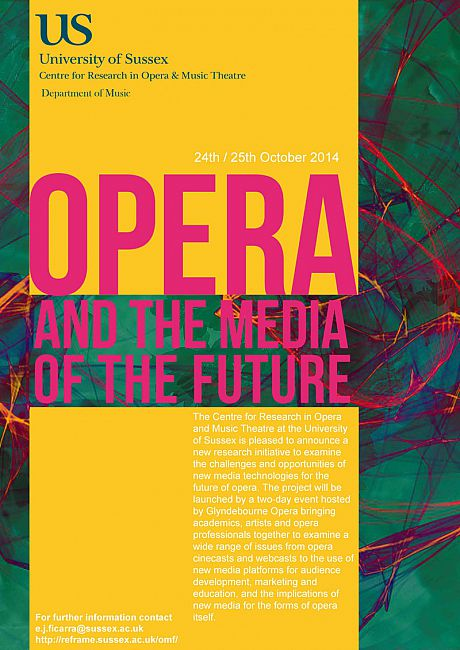 Opera and the Media of the Future event poster