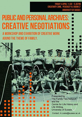 Public and Personal Archives: Creative Negotiations 4 April 2014 poster