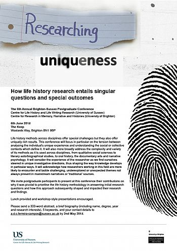 Researching Uniqueness 6 June 2014 poster