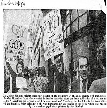 Gay Liberation Front, newspaper cutting The Guardian 13 Feb 1971