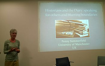 Penny Summerfield at Mass Observation Diaries event 2 May 2014