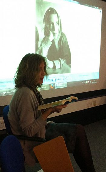 Mikey Cuddihy reading on 25 November 2014