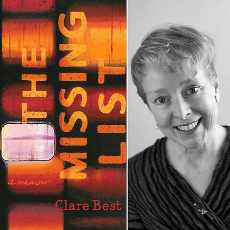 The Missing List cover and profile pic of author Clare Best