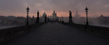 view over Charles Bridge in Prague
