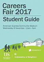 Front cover of the Careers Fair 2017 guide for students