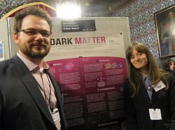 Talitha Bromwich with her JRA supervisor Dr Simon Peeters at the Posters in Parliament event in February 2014.