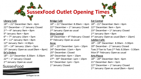 List of outlet Christmas opening times