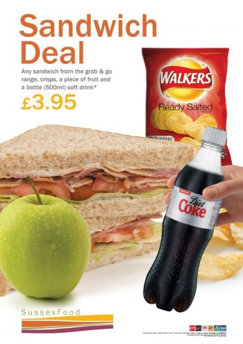 Poster about £3.95 sandwich meal deals