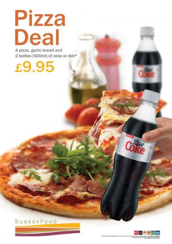 Poster about £9.95 pizza meal deal