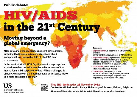 Poster of the HIV event, 28th November 2012