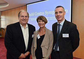 Andrew & Virginia Rudd and Prof Gordon Harold