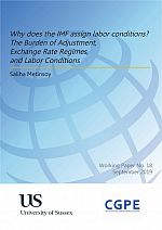 Why does the IMF assign labor conditions? The Burden of Adjustment, Exchange Rate Regimes, and Labor Conditions