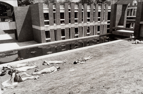 arts pond sunbathing 1960s