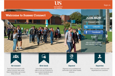 Sussex Connect homepage