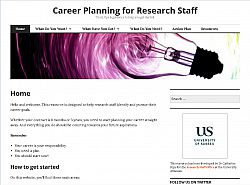 Career Planning website - screenshot