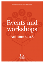 Research Staff Development Series Autumn 2018 Events and Workshops