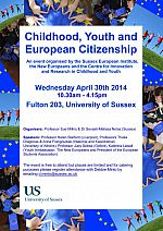 Childhood, Youth and European Citizenship: promo poster