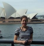 Emma Axelsson in front of the Sydney Opera House