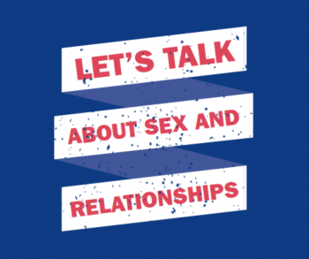 Front cover of 'Let's talk about Sex and Relationships' booklet