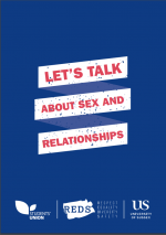 Front cover of Sex and Relationships booklet