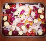 Quinoa chopped up veg