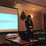 Stella Garaz speaks at the SRHE's Annual Research Conference in Wales, Dec 2015