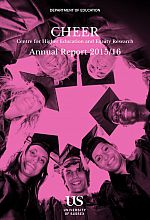 CHEER Annual Report Cover 2015/16