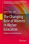 The changing role of wome in higher education: book cover