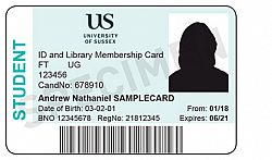 Of Services Cards Print Id Estates Facilities Sussex Unit University Schools And