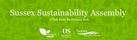 A banner linking to the Sustainability Assembly Livestream
