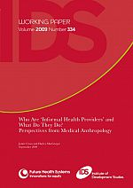 Who Are 'Informal Health Providers' and What Do They Do?