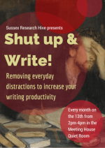 Shut up & write! Sussex Research Hive Flyer