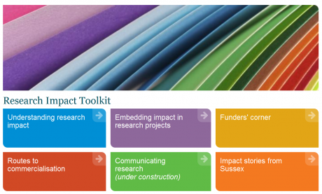 Screenshot: Research Impact Toolkit webpage
