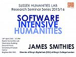 Poster advertising seminar given by James Smithies