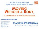 Poster advertising seminar given by Stamatia Portanova