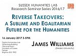 Poster advertising seminar given by James Williams
