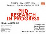 Poster advertising seminar given by SHL PhD students