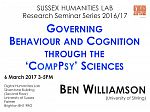 Poster advertising seminar given by Ben Williamson
