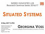 Poster advertising seminar given by Georgina Voss