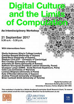 Poster advertising Limits of Computation seminar